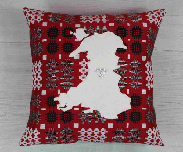 Welsh Tapestry Blanket Map of Wales Cushion / Cymru Cushion