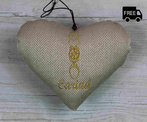 Welsh Love Spoon Heart (Gold)