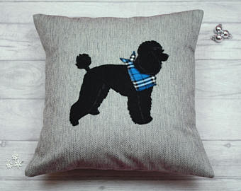 Poodle Dog Cushion