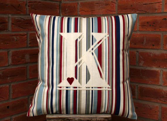 Initial Cushion - Stripes