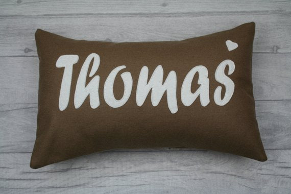 Jones Cushion, Family Name / Surname Cushion