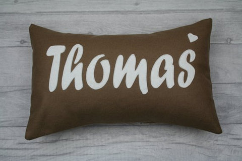 Thomas Cushion/ Thomas Pillow , Surname Cushion, House warming gift