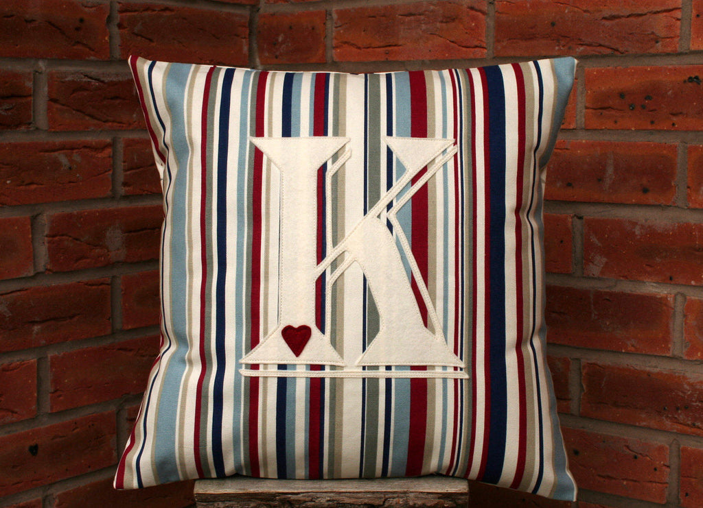 Initial Cushion Stripes