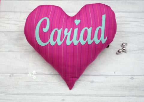 Cariad Heart Cushion / Love Heart Cushion