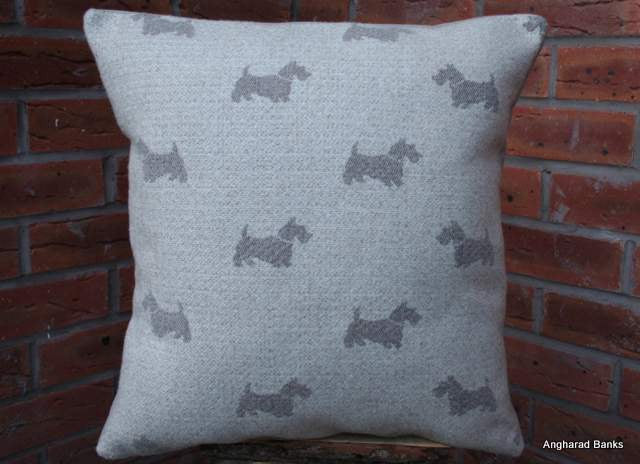 Scotty Dog Repeat Cushion