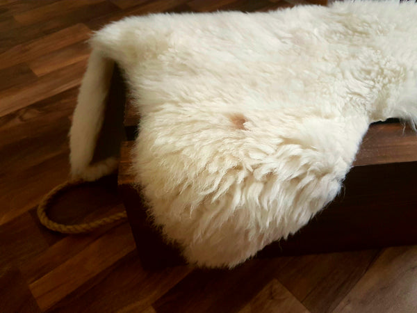 Off White with Caramel Spot Sheepskin