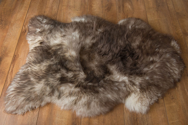 Large Rusty Brown Sheepskin Rug