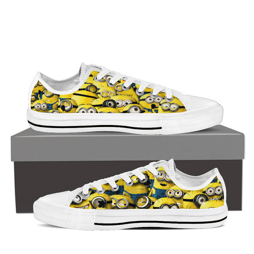 MINIONS Women's Low Top Canvas Shoes Black/White