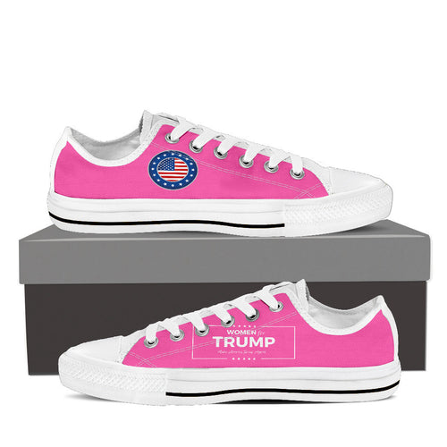 WOMEN FOR TRUMP Low Top Canvas Shoes Black/White