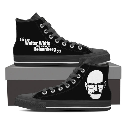 Breaking Bad Design Women's High Top Canvas Shoes Black/White