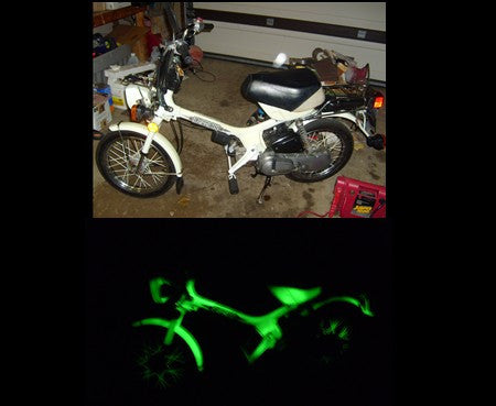 Extreme G12 Invisible  Green Glow in the Dark  Powder