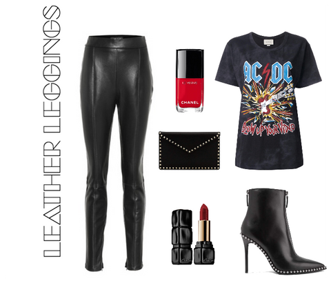 Leather Leggings and graphic tee