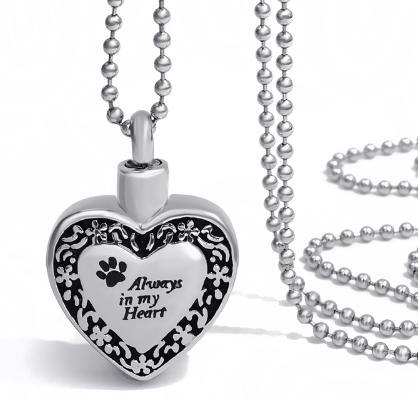 """Always In My Heart"" Cremation Pendant"