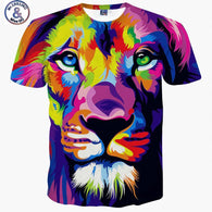 Abstract Colorful Lion T-Shirt