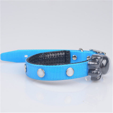 Cute LED Button Pet Collar