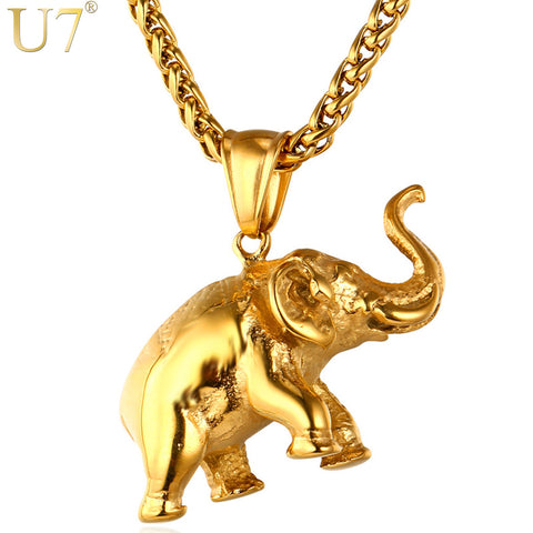 Gorgeous Elephant Pendant Necklace