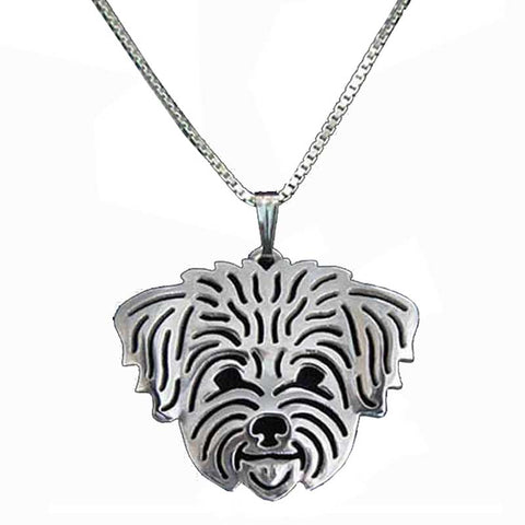 Cute Maltese Pendant Necklace