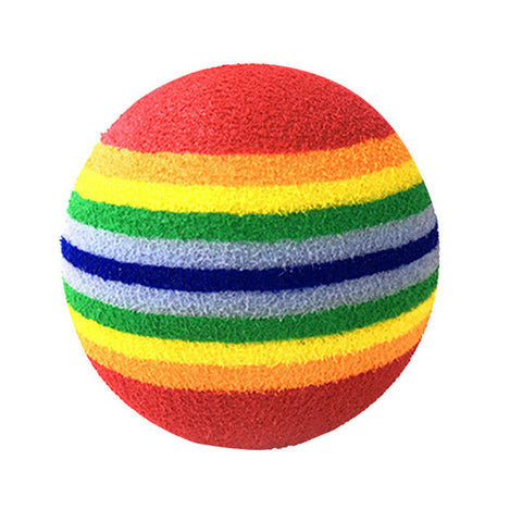Fun Colorful Squeaky Balls for Small Pets