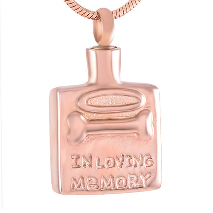 """In Loving Memory"" Cremation Pendant"