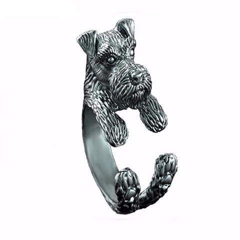 Cute and Cuddly Schnauzer Ring