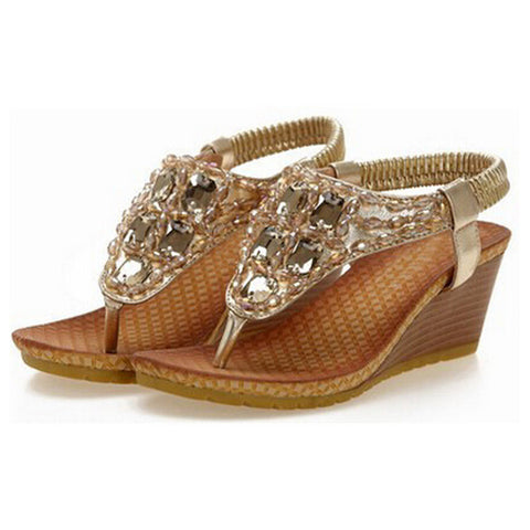Crystal Rhinestone Casual Silver Flip Flops Sandals/Shoes