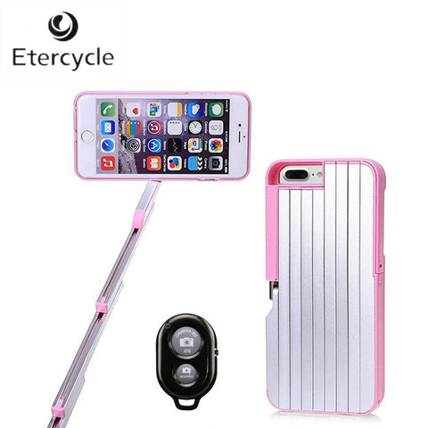 Bluetooth Selfie Stick Extendable Phone Case W/Remote Controller iPhone 7 Plus 5.5""