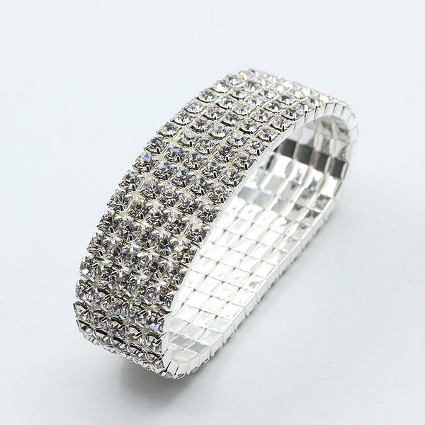 Elegant Full Drill Crystal Rhinestone Stretch Bracelet