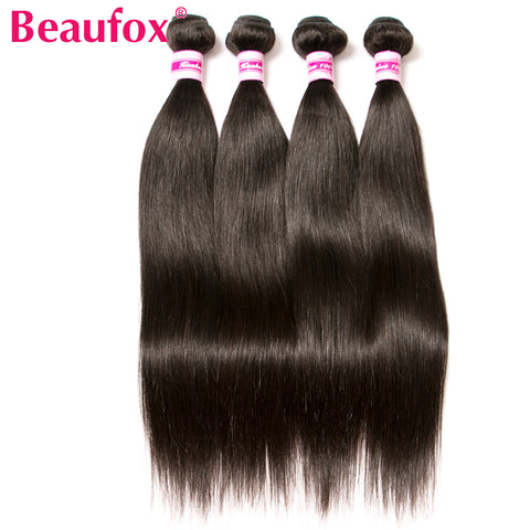 Brazilian Straight Hair Human Hair Weave Bundles Natural Black Non-Remy  Can Buy 3 or 4 Bundles