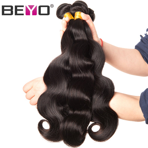 Brazilian Body Wave Bundles 10-28 Inch 100% Human Hair 1 Piece Non-Remy Natural Color
