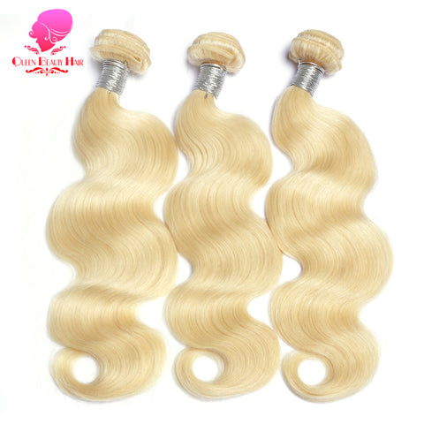 Brazilian Body Wave Remy Weft 613 Blonde 1PC 12inch To 30inch Human Hair Weave Bundles