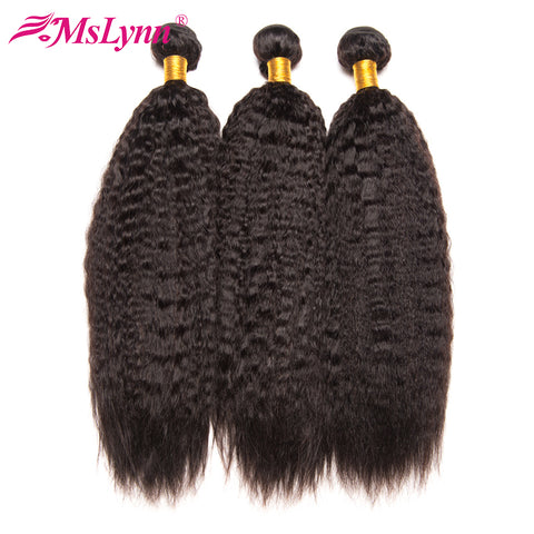 Brazilian Kinky Straight Hair Human Bundles Non Remy Hair Extension Can Buy 3 or 4 Pieces