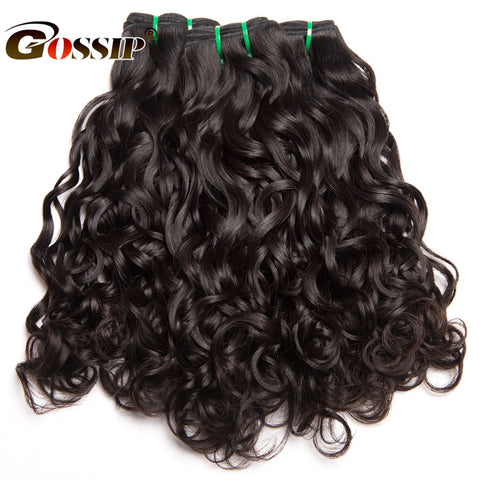 "Brazilian Hair Weave Bundles 1 Piece Water Wave Human Hair 10-28"" Double Weft Non Remy"