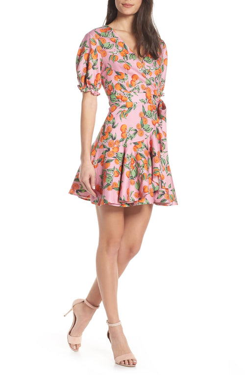 ARANCIATA WRAP DRESS