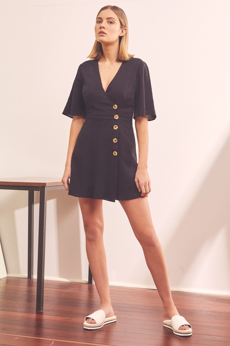 MOVEMENT WRAP DRESS