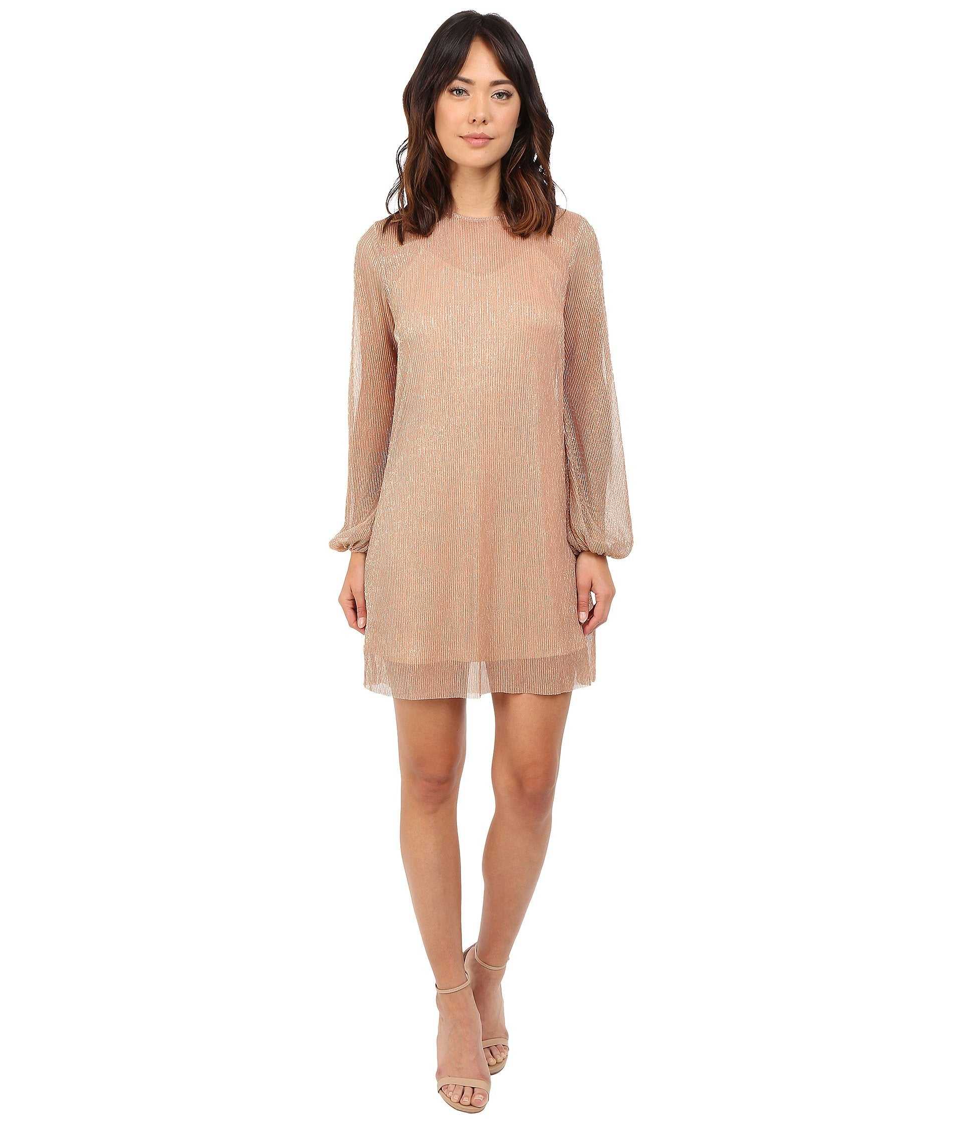 Fading Out Long Sleeve Mini Dress