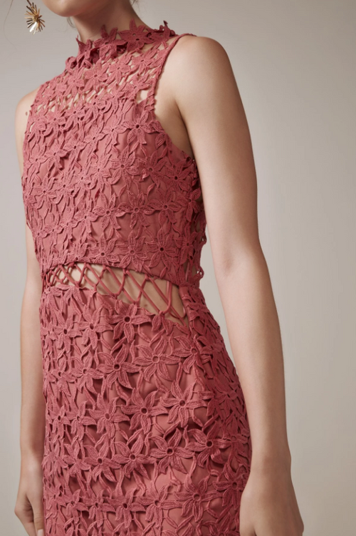 Stay Close Lace Midi Dress