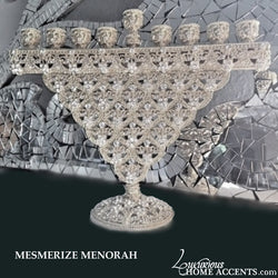 Menorah With Swarovski Crystals Mesmerize