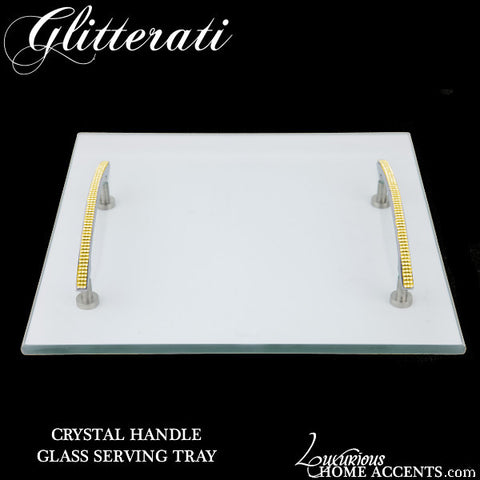 Glitterati Gold Crystal Serving Tray