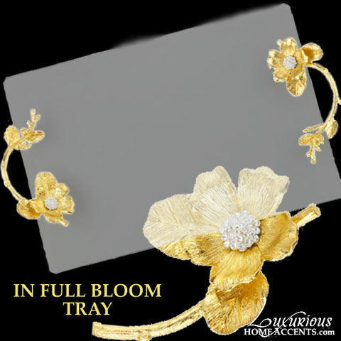 In Full Bloom Glass Tray