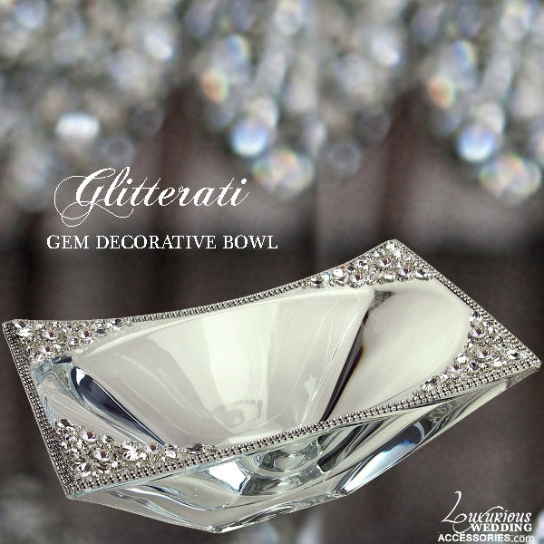 Glitterati Crystal Gem Decorative Bowl