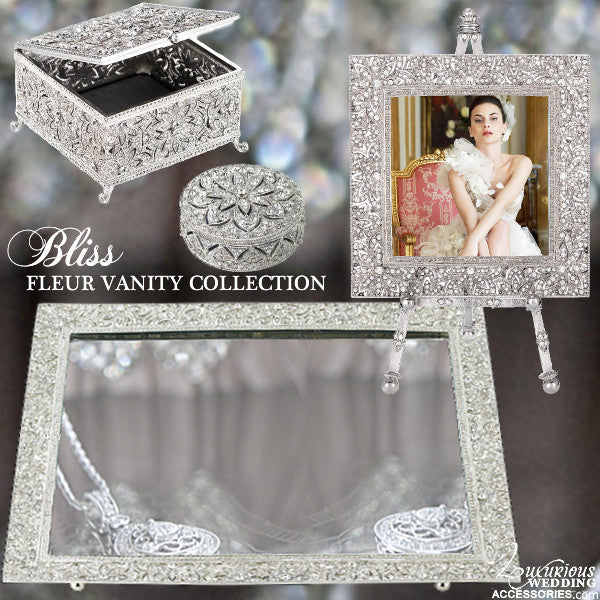 Bliss Fleur Silver Vanity Collection
