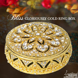 Swarovski Crystal Engagement Ring Box Gloriously Gold