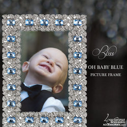 Swarovski Crystal Oh Baby Blue Picture Frame