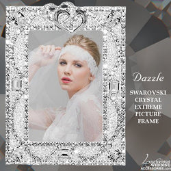 Swarovski Crystal Heart Picture Frame Dazzle Extreme