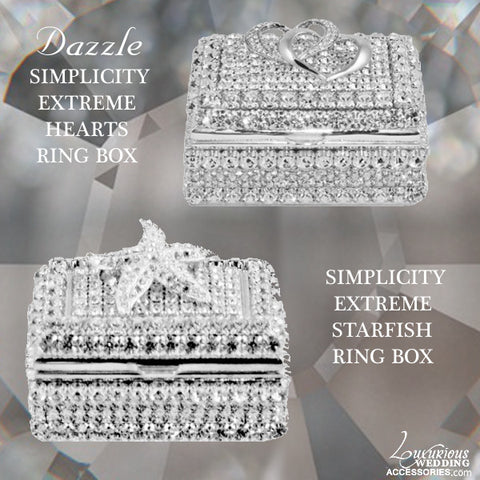 Dazzle Swarovski Crystal Simplicity Extreme Ring Boxes