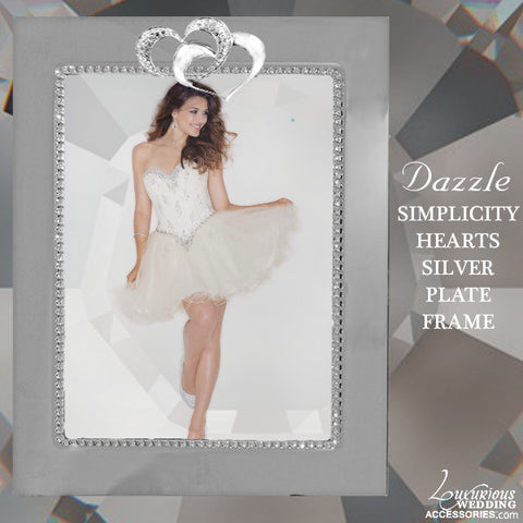 Dazzle Swarovski Crystal Simplicity Silver Plated Picture Frame