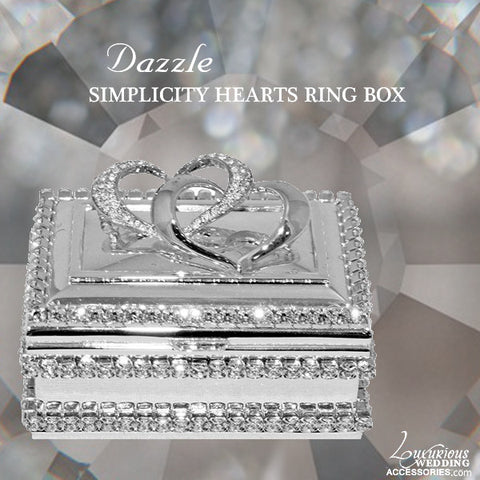 Dazzle Swarovski Crystal Simplicity Heart Ring Box