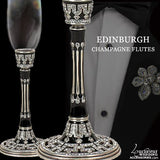 Swarovski Crystal Champagne Glasses Edinburgh