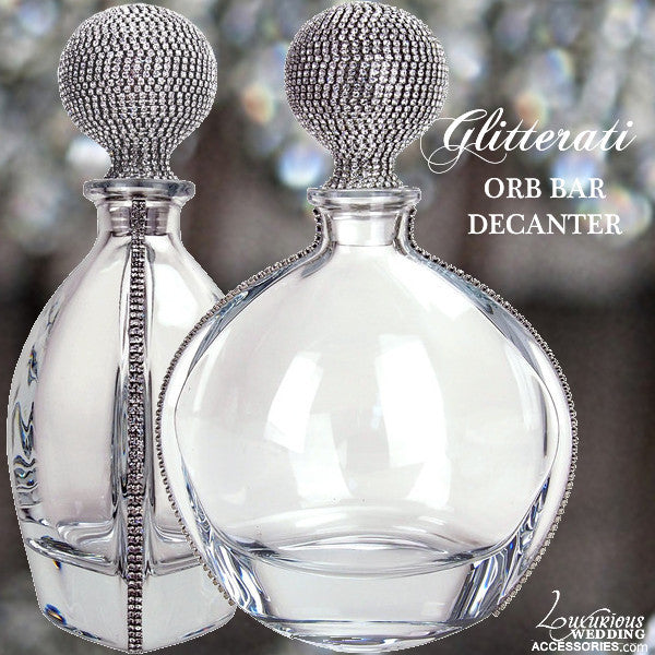 Glitterati ORB Bar Crystal Decanter