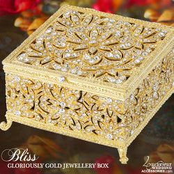 Swarovski Crystal Gold Jewelry Box